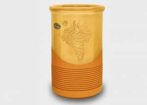 Weinkühler mit Rippendekor beige